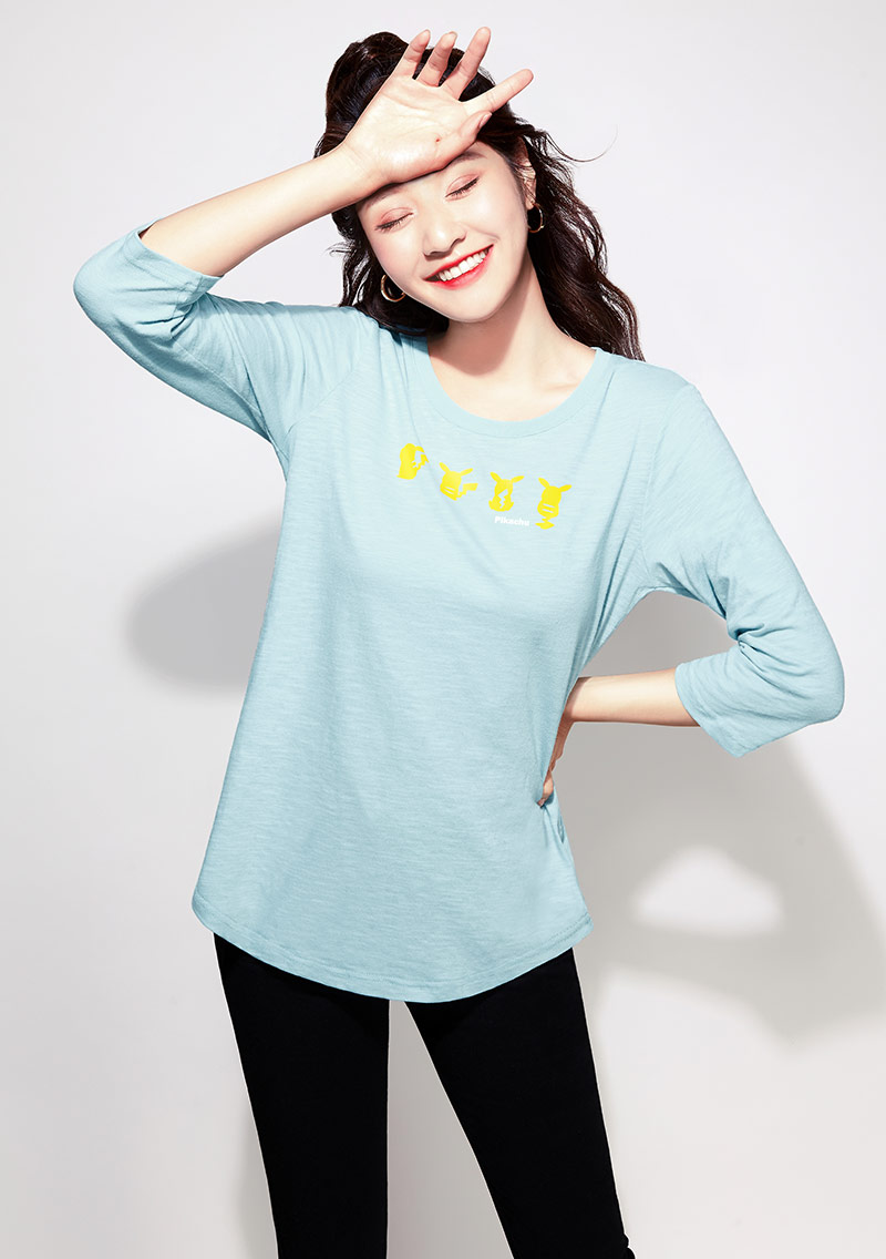 寶可夢系列竹節棉印花T恤-01