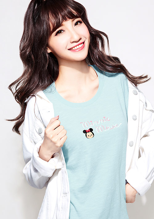Tsum Tsum系列竹節棉印花T恤-01