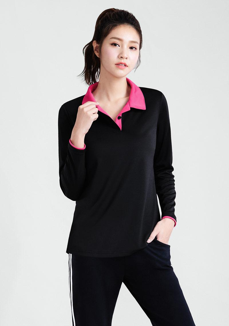 抗UV吸排拼色長袖polo衫