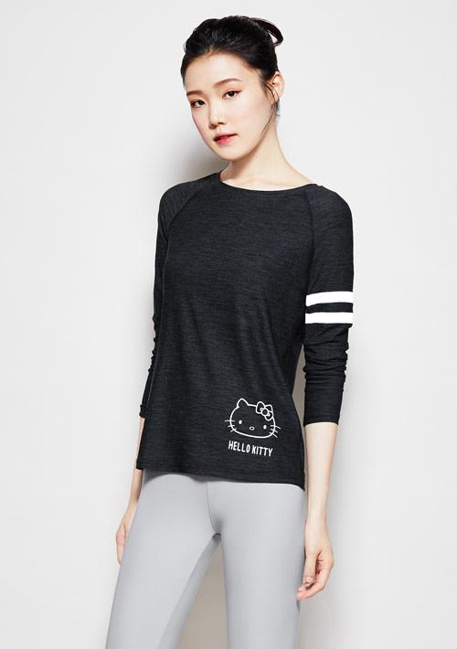 Hello Kitty 抗UV吸排運動印花上衣-01