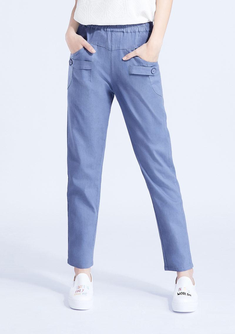 彈性休閒長褲