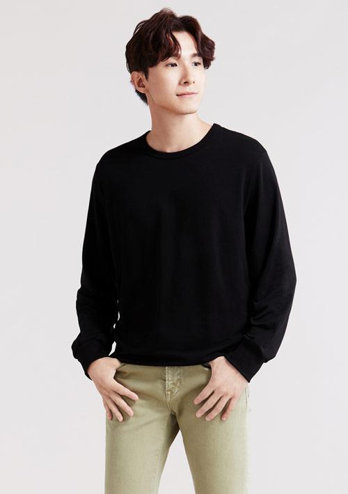 毛圈圓領衫-男裝