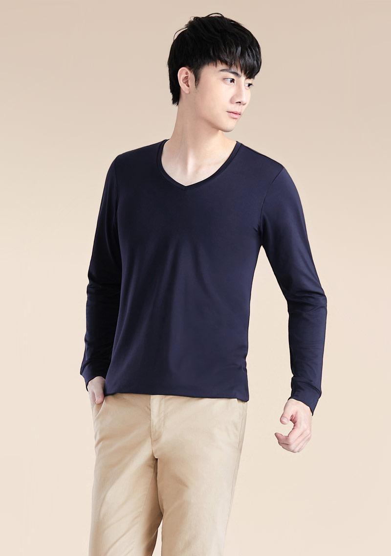 HEATPUSH V領發熱衣-男裝