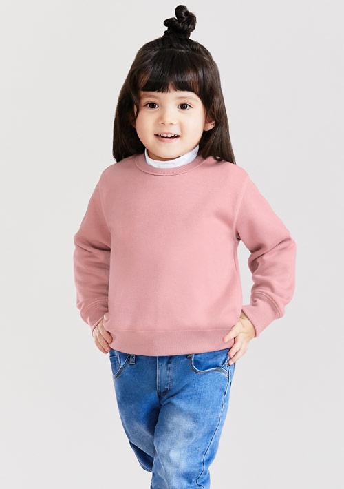 圓領刷毛上衣-童裝