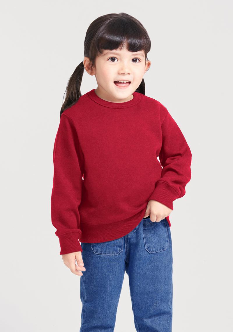 圓領刷毛上衣-童