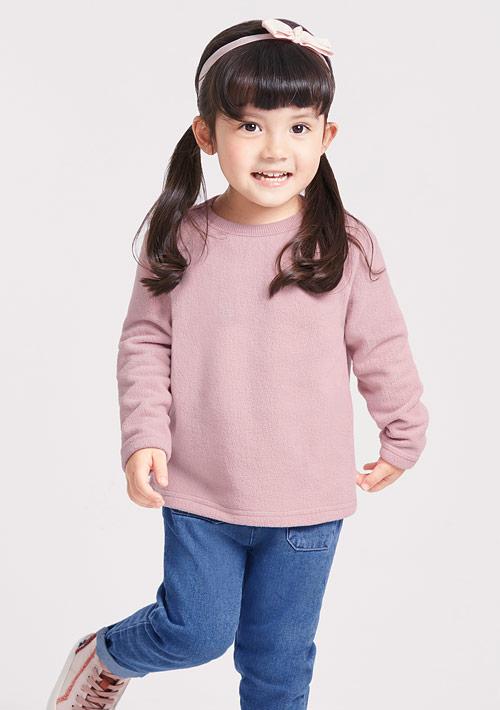 Fleece輕量保暖圓領衫-童裝