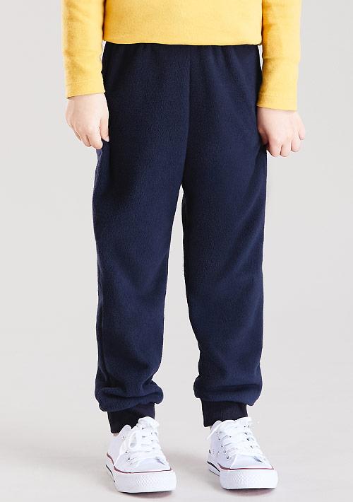 Fleece輕量保暖束口長褲-童裝
