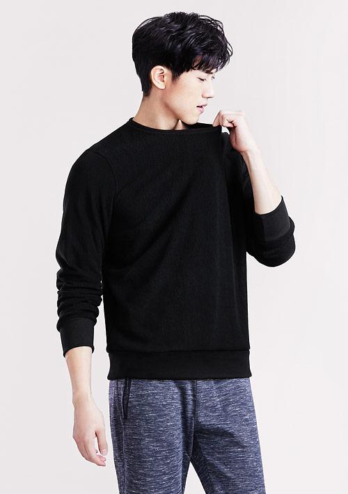 Fleece輕量保暖圓領衫-男