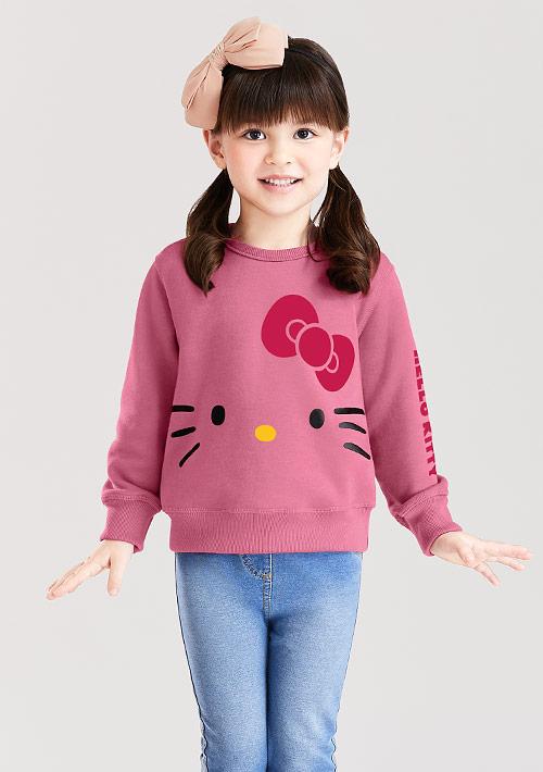 Hello Kitty 刷毛印花T恤-01-童