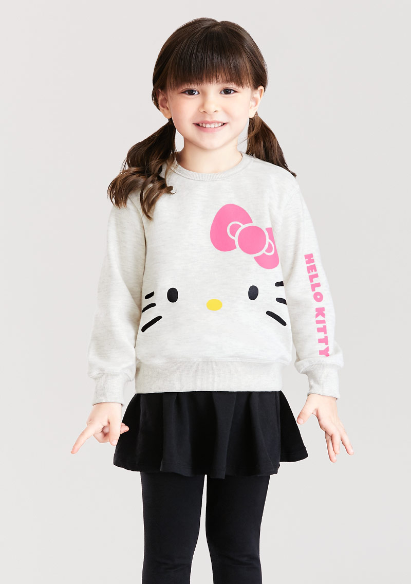 Hello Kitty 刷毛印花T恤-01