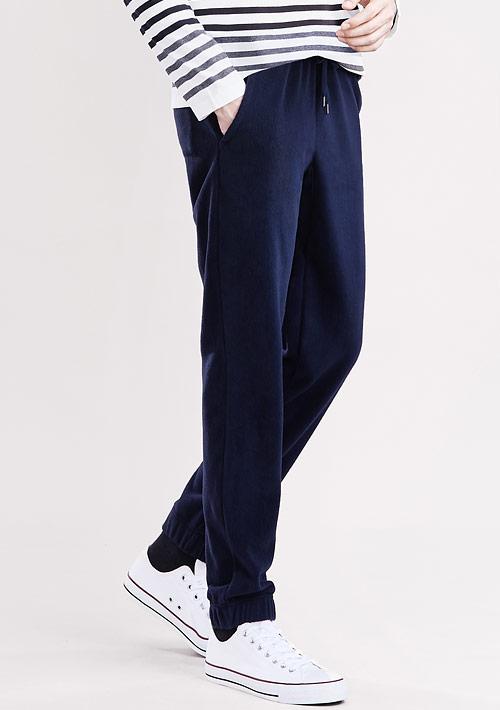 Fleece輕量保暖束口長褲-男裝