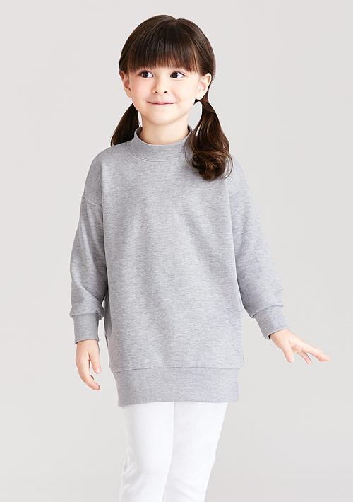 毛圈立領長版上衣-童裝