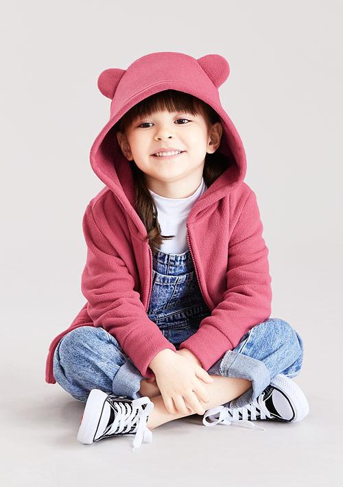 Fleece連帽外套-童