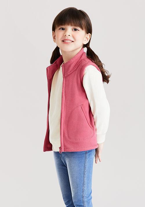 Fleece立領背心-童裝