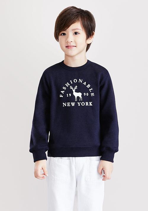 小鹿刷毛印花T恤-童裝