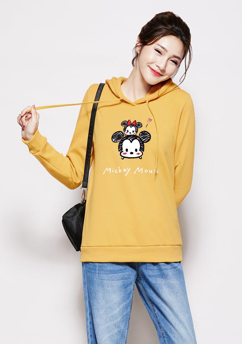 Tsum Tsum 系列刷毛連帽印花大學T-01