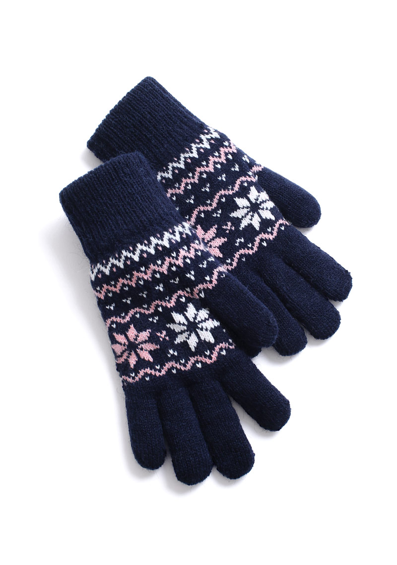 雪花毛絨手套