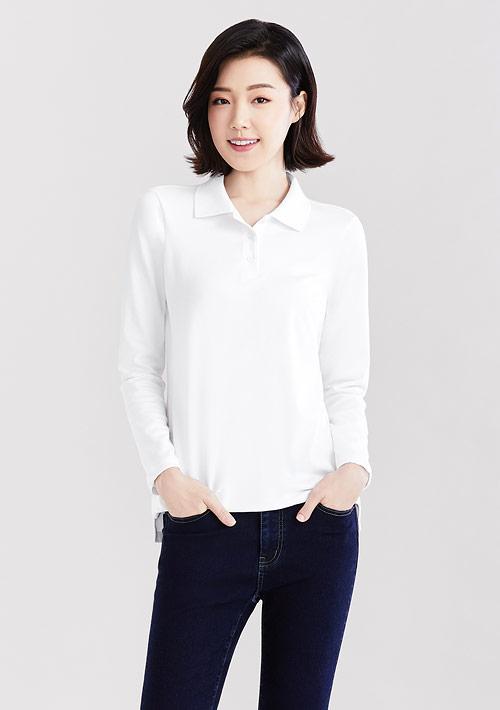 棉質網眼長袖polo衫