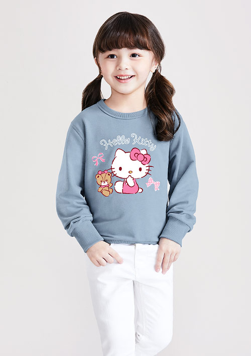 Hello Kitty 小熊毛圈印花T恤-01-童裝