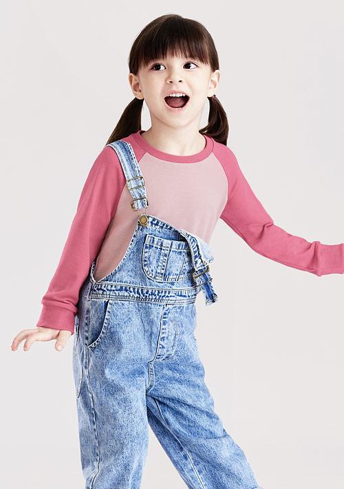 毛圈配色圓領衫-童裝