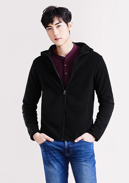 Fleece連帽外套-男裝