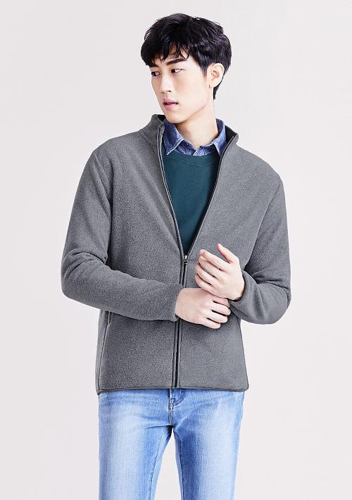 Fleece立領外套-男
