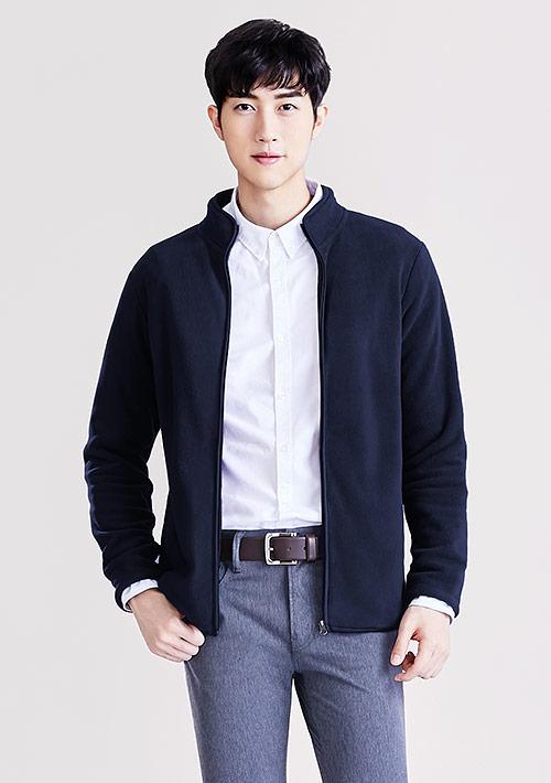 Fleece立領外套-男裝