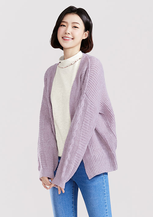 混紡針織外套