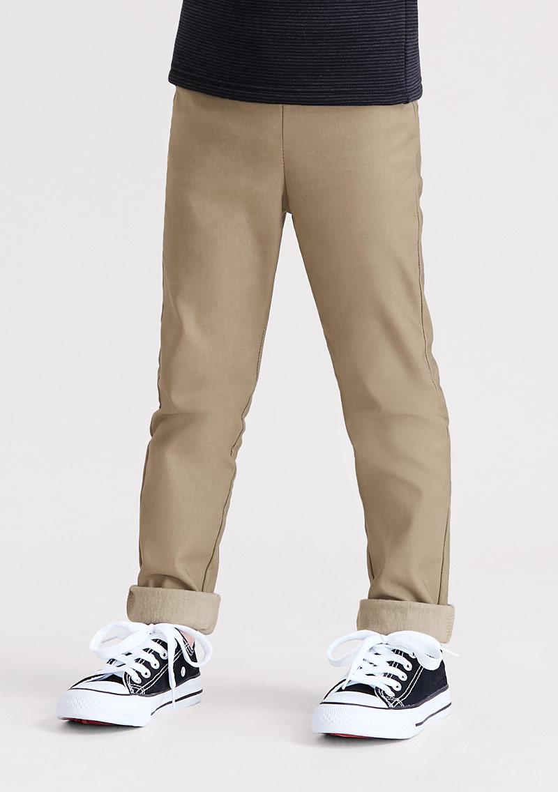 特級彈性磨毛長褲-童裝