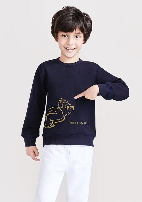 迪士尼奇奇蒂蒂系列刷毛印花T恤-01-童裝