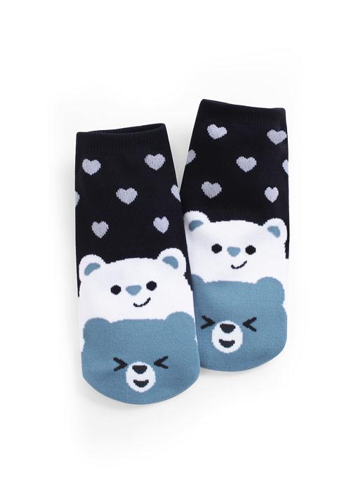 愛心熊熊短襪