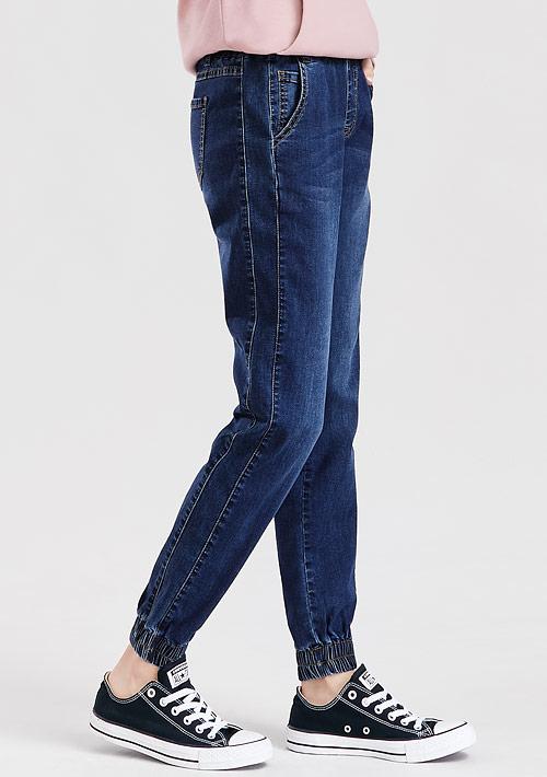 特級彈性牛仔束口褲