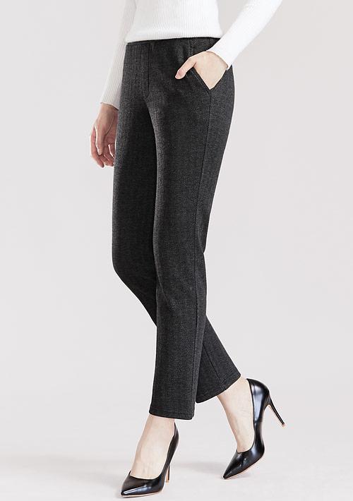 人字紋直筒褲