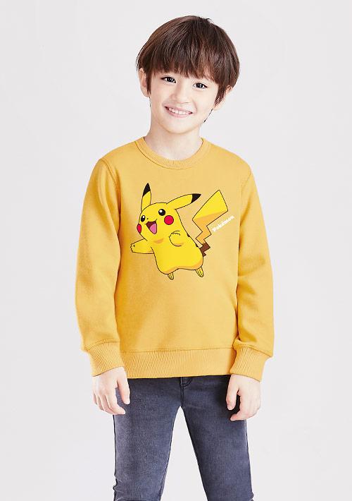 寶可夢系列刷毛印花T恤-01-童裝