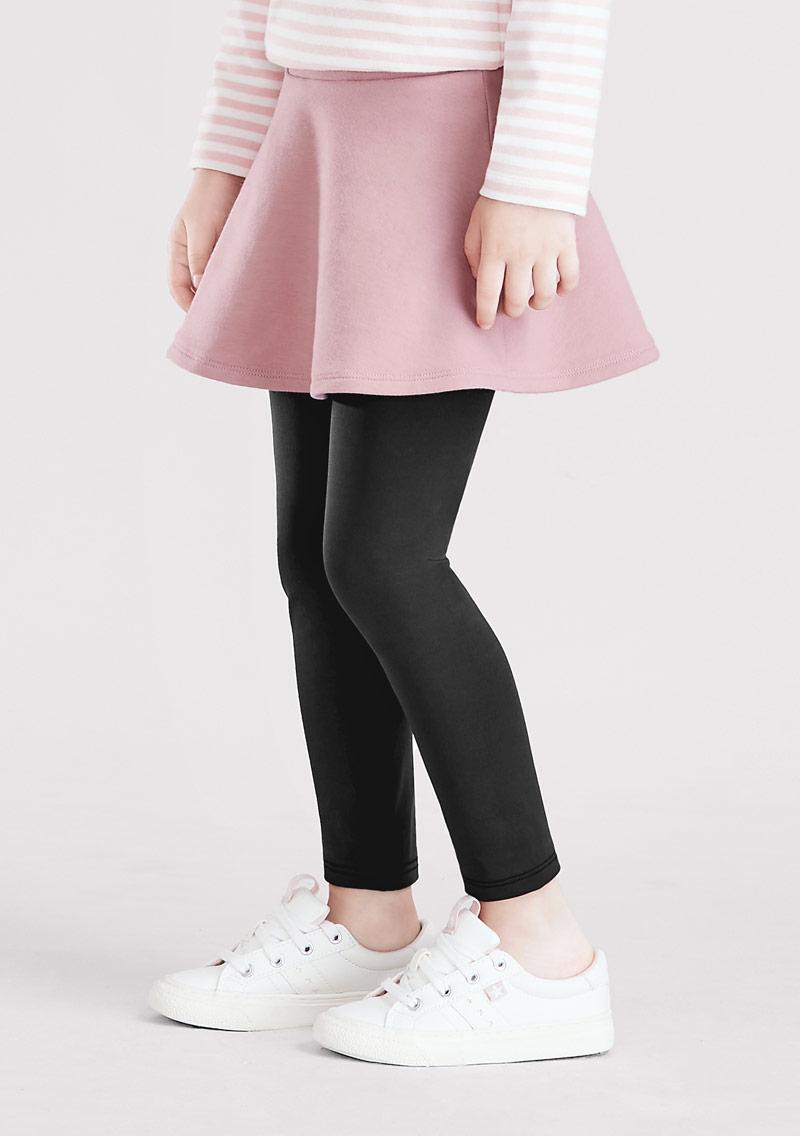 假兩件圓裙內搭褲-童裝