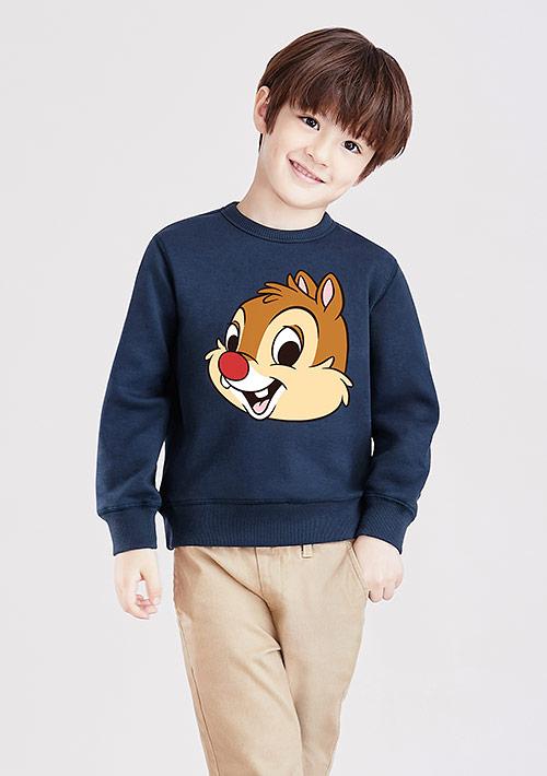 迪士尼奇奇蒂蒂系列刷毛印花T恤-02-童裝