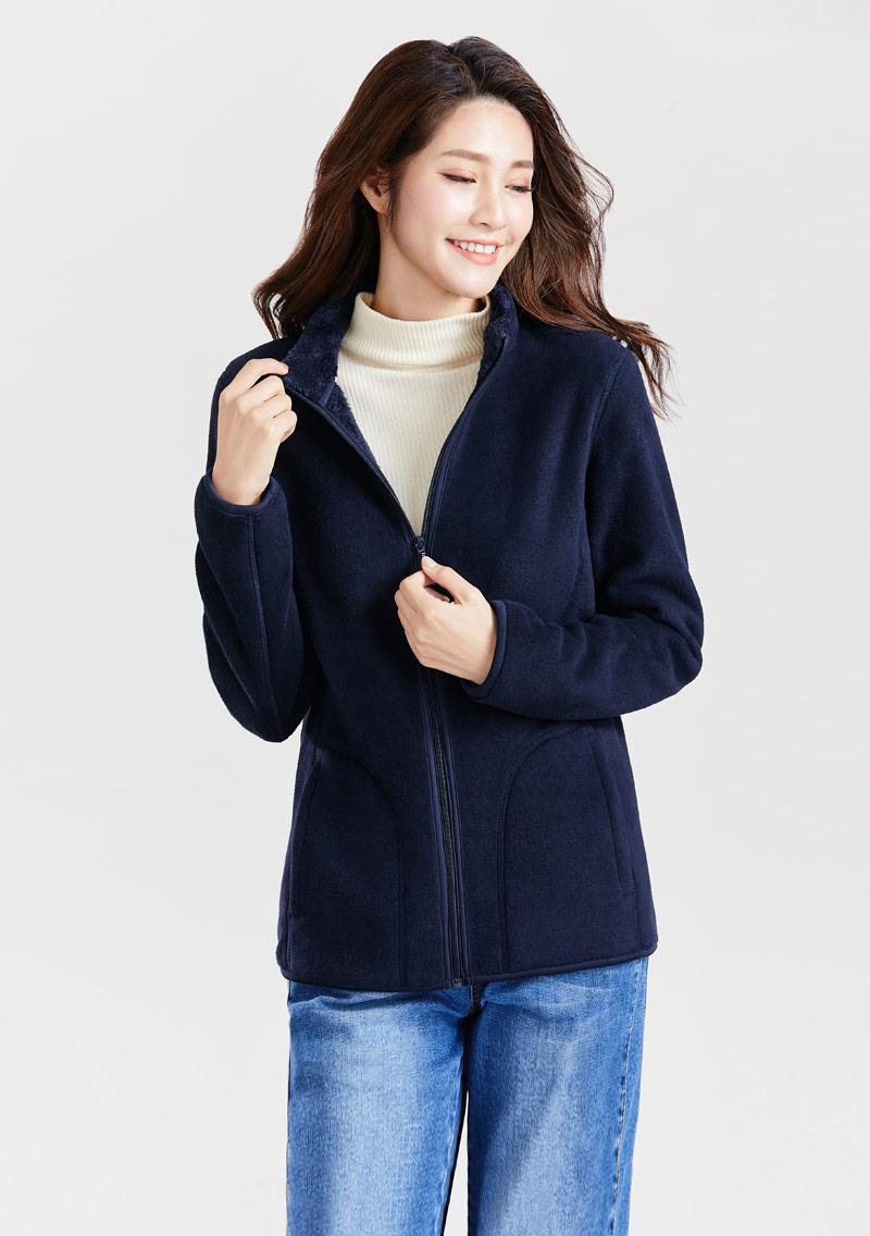 Fleece毛絨立領外套