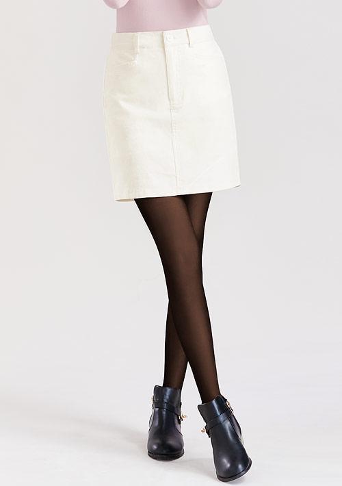 燈芯絨短裙