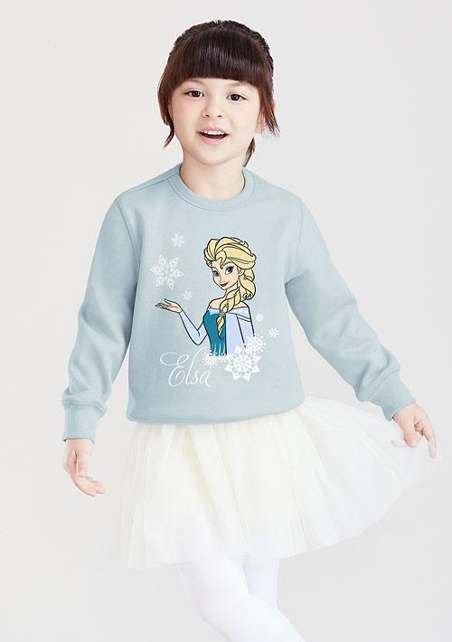 迪士尼公主系列刷毛印花T恤-01-童裝