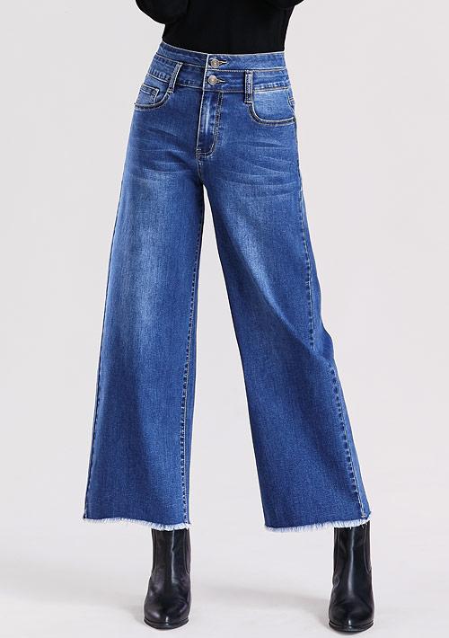 特級彈性牛仔寬褲