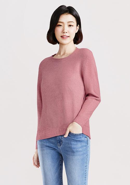 混紡圓領針織毛衣