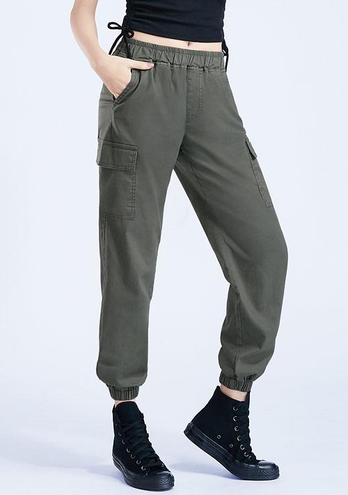 休閒束口褲