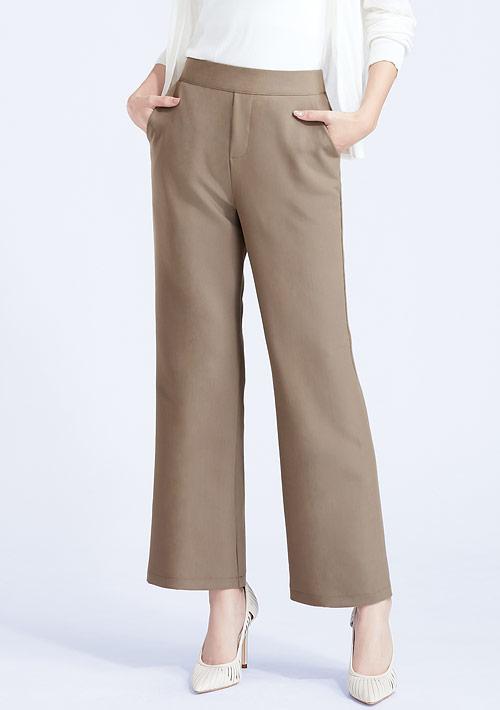 西裝喇叭褲