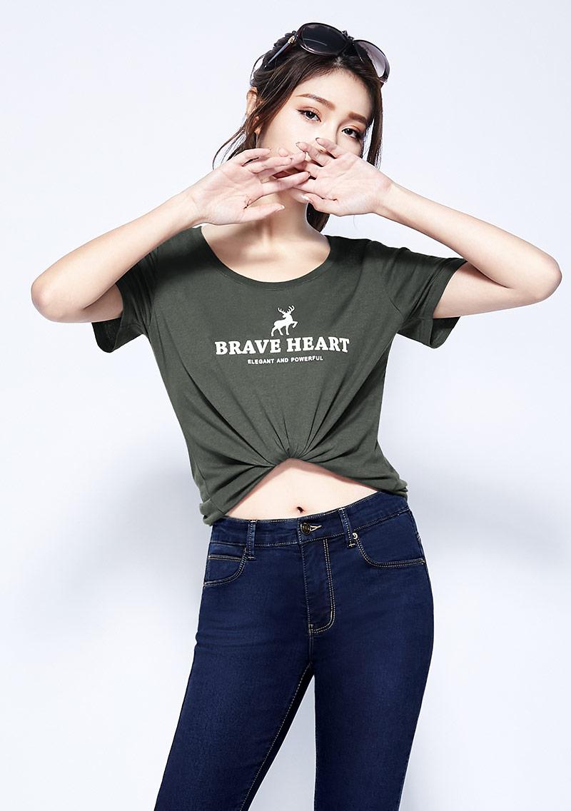 小鹿純棉印花T恤