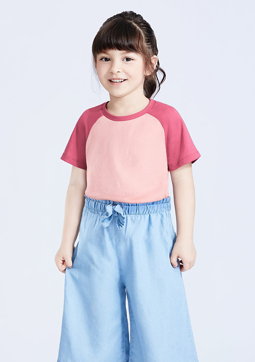 純棉配色T恤-童裝