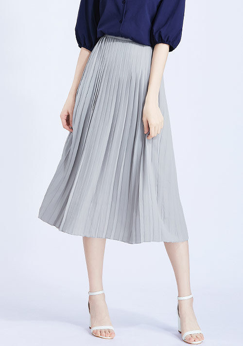百褶雪紡長裙