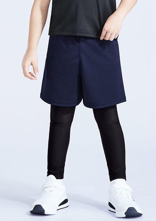 特級彈性吸排涼感假兩件長褲-童裝