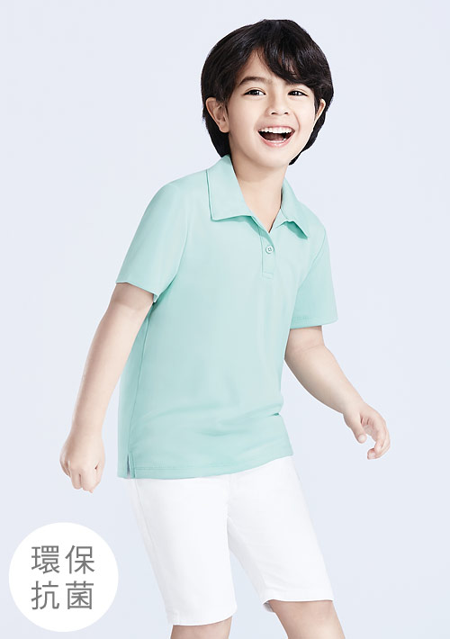 抗UV吸排polo衫-童裝