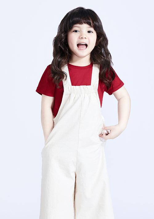 圓領純棉上衣-童裝