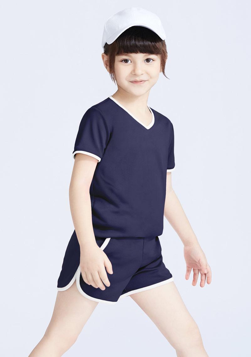 抗UV吸排運動短褲套組-童裝